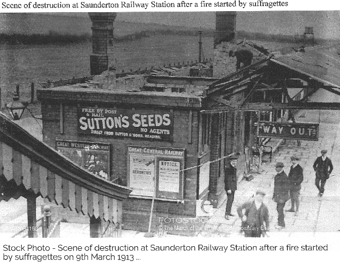 Saunderton Station gutted by fire