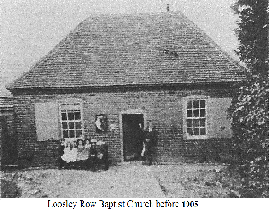 Loosley Row Baptist Church before 1905