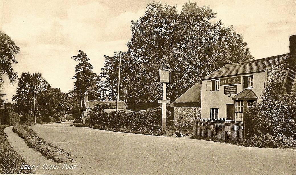 Our central pub - The Black Horse - in days gone 		   by