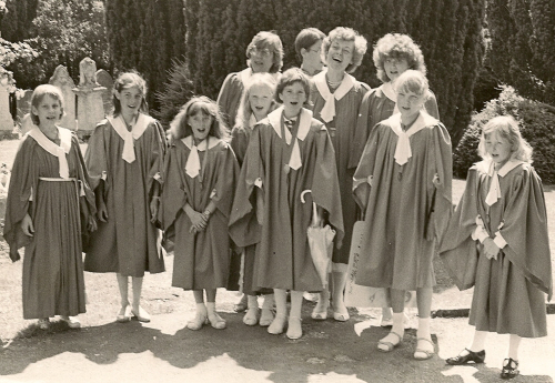 The choir in the 1980's