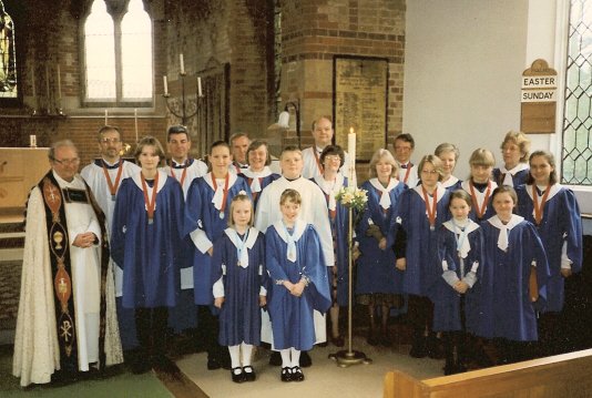The choir in the 1990's