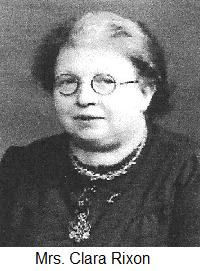 Mrs Clara Rixon