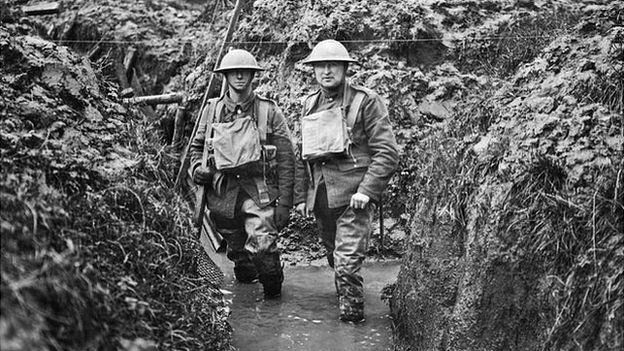 Flooded trench