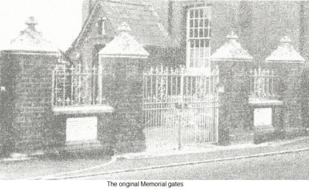 The original Memorial gates