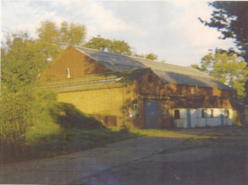 The indoor tennis court building
