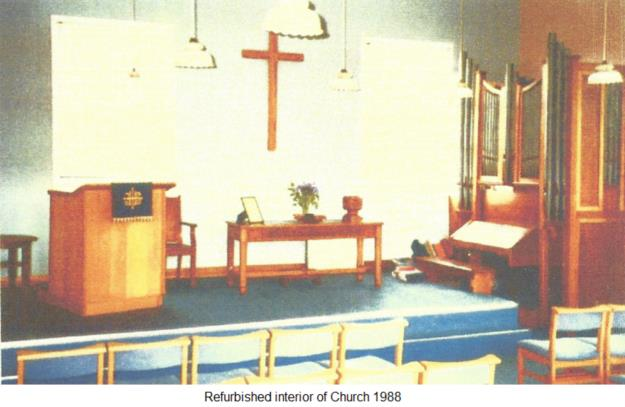 Refurbished interior of Church 1988
